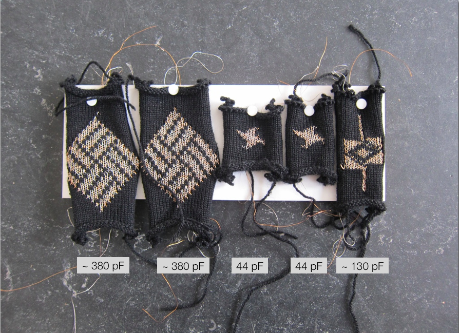 Knitted Capacitors